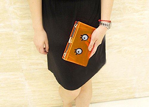 Zarapack de la mujer crystal clear Multi Color de neón acrílico plexiglás de cadena de bolsa bolso bandolera bolso de embrague, estilo 6 (transparente) - BA935 estilo 6