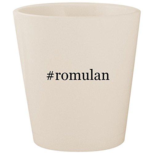 #romulan - White Hashtag Ceramic 1.5oz Shot Glass ()