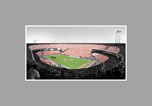 Candlestick Park - Football Touch of Color - 36x20 Matte Poster Print Wall Art TOC