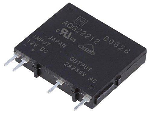 AQG22212 Relay solid state Ucntrl9.6÷ 14.4VDC 2A 75÷ 264VAC PCB, THT PANASONIC EW
