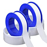 Mudder 2 Pack Thread Tape PTFE Thread Seal Tape Pipe Sealant Tape for Plumbers Plumbing, 1/ 2 Inch