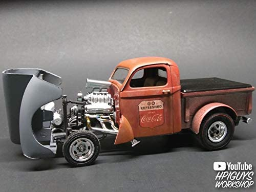 Buildable Vintage Vehicle for Kids and Adults AMT 1940 Willys Coca-Cola Pickup Gasser 1//25 Scale Pickup Truck Model Kit