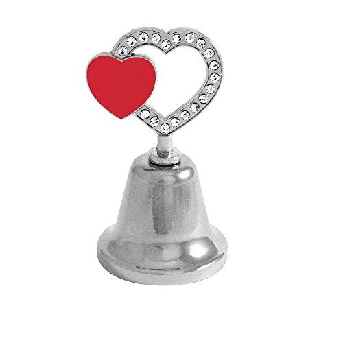 Rockin Gear Bell Dinner Ring Valentines Day Red Heart Bell Love - Dinner Heart Bell