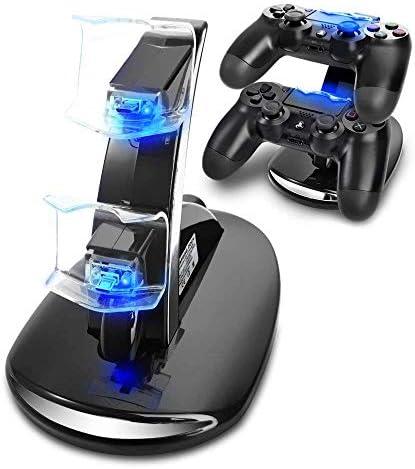 KONKY PS4 Cargador, Cargador Mandos PS4 Dualshock PS4