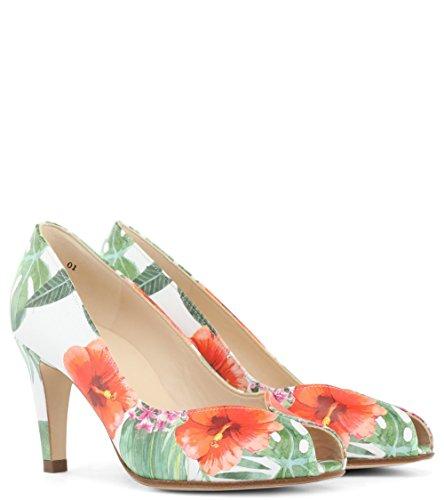Peter Kaiser Chaussures Sevilia Peep Toe Cour dans Tropic Multi Multicolore MrHCcgTS6A