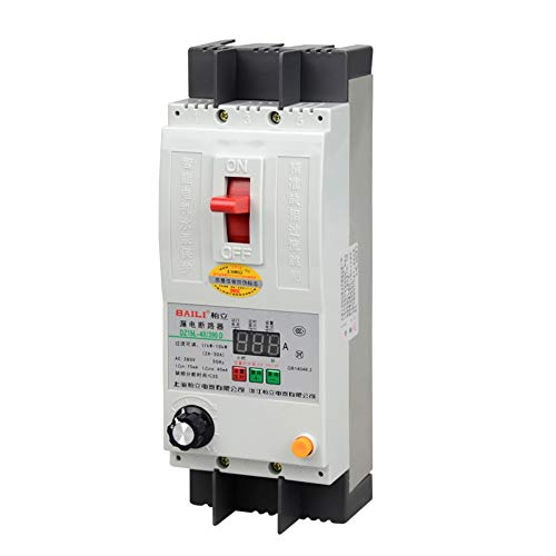 MADEYU Electrical Protection Phase Loss Protector Three-Phase 380V Electric Switch Leakage Short Circuit overcurrent Blocking Timing Digital Display 40A ()