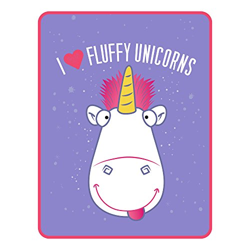 Universal Fluffy I Heart Unicorns Microraschel Throw