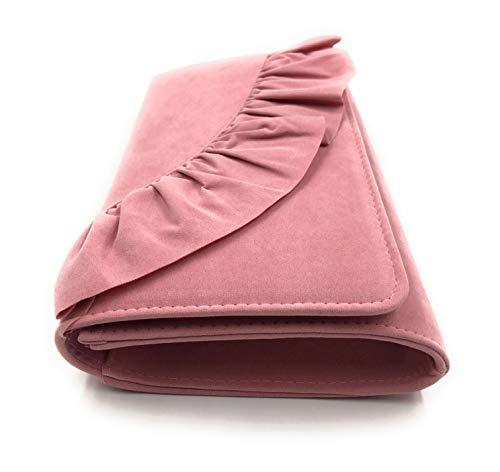 ELEGANT PREMIUM EVENING VELVET CLUTCH BAG WITH ADJUSTABLE SHOULDER CHAIN, SNAP CLOSURE & SMOOTH INNER SATIN (28 CMS X 18 CMS)