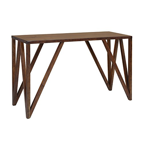 Craft and Main CNO-01281 Old World Chestnut Bali Console Table, 52 x 18