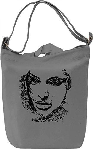 Woman Portrait Borsa Giornaliera Canvas Canvas Day Bag  100% Premium Cotton Canvas  DTG Printing 