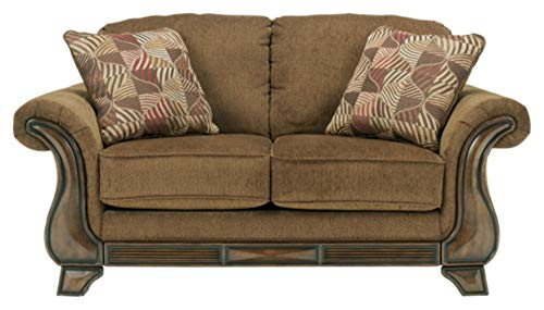 Ashley Furniture Signature Design - Montgomery Loveseat Sofa - Traditional Style Couch - Mocha Brown (Couch Brown Traditional)