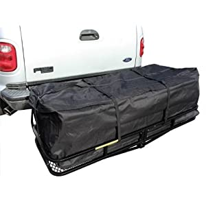 TMS 58 Inch Large Cargo Carrier Bag SUV RV Truck Hitch/roof Top Rack Luggage Weather-Resistant