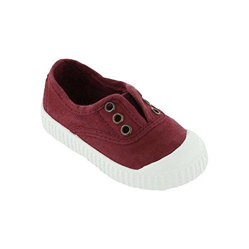 Victoria - Zapatillas de casa de tela para niños Vino