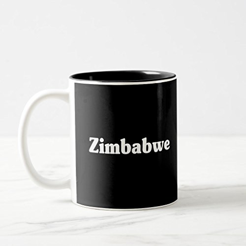 Zazzle Zimbabwe Classic Style Two-tone Coffee Mug Maroon Two-Tone Mug, 11 oz