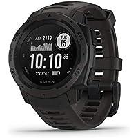 Garmin Instinct, reloj resistente al aire libre con GPS, cuenta con cristal y galileo, control de frecuencia cardíaca y brújula de 3 ejes
