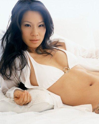 Lucy Liu Hot White Bikini Top 030 8x10 Photo