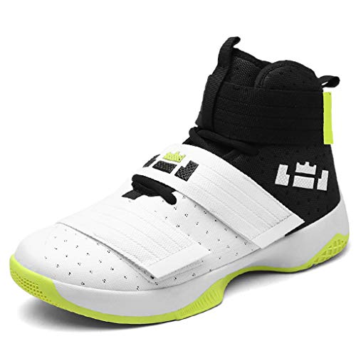 Teresae Men's Basketball Shoes Air Damping Men Sports Sneakers High Top Breathable Nylon Trainers Shoes Men Outdoor