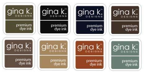 Gina K Design Dye Ink Pad Bundle - Eight 1'' Cubes, Neutral Colors
