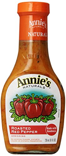 Annie's Gluten Free Natural Roasted Red Pepper Dressing 8 fl oz Bottle (Pepper Salad)