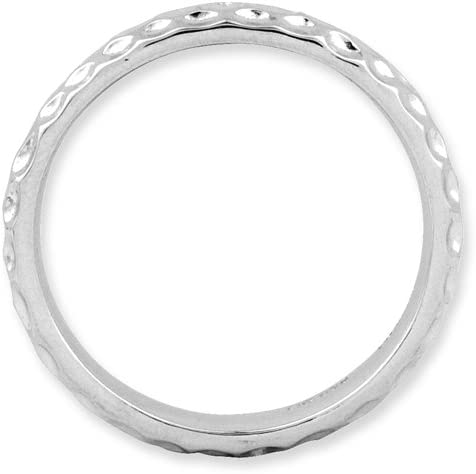 Stackable Expressions Sterling Silver Rhodium Ring Sizes 5-10