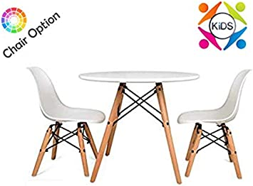 Set For Kids Children Eiffel Style White Table With 4 White Eiffel Style Plastic Chairs