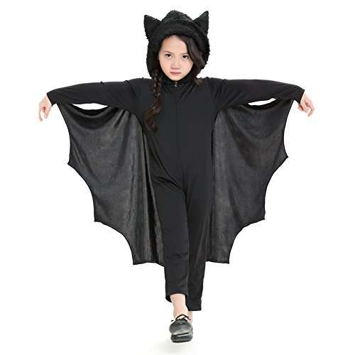 Per Bat Jumpsuit for Child Halloween Costume with Hood&Gloves for Boys&Girls Toddler