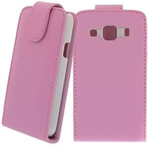 Funda Plegable Cartera de piel artificial para Samsung Galaxy Xcover GT-S5690 Rosa - Funda Con Tapa