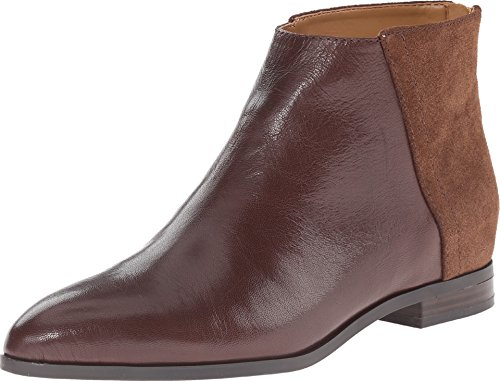 Nine West Women's Orion Dark Brown/Dark Brown Leather Boot 5.5 M