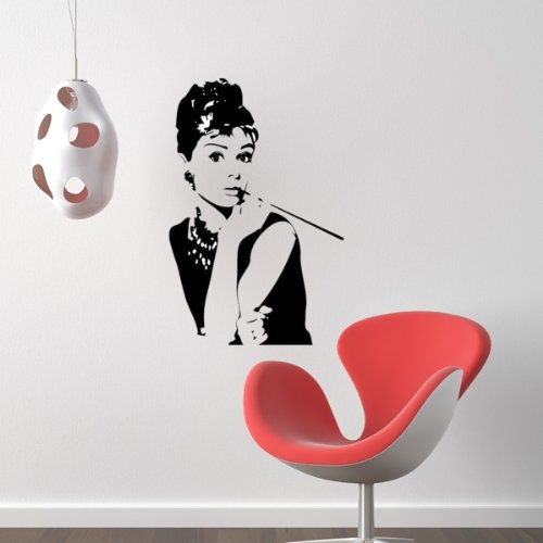 Adesivi Murali Audrey Hepburn.Wall Stickers Adesivi Murali Decorazioni Nero Audrey Hepburn Amazon
