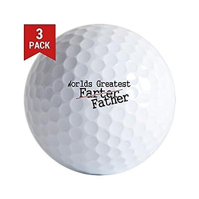 CafePress - WORLDS GREATEST FARTER - Golf Balls (3-Pack), Unique Printed Golf Balls