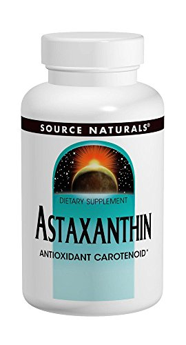 Natural Astaxanthin 120 Tabs - Source Naturals Astaxanthin 2mg High Potency, 100% Pure Algae Extract, Antioxidant Carotenoid Supplement - Powerful Anti-Inflammatory & Support for Skin, Joint, Eye & Immune Health - 120 Tablets