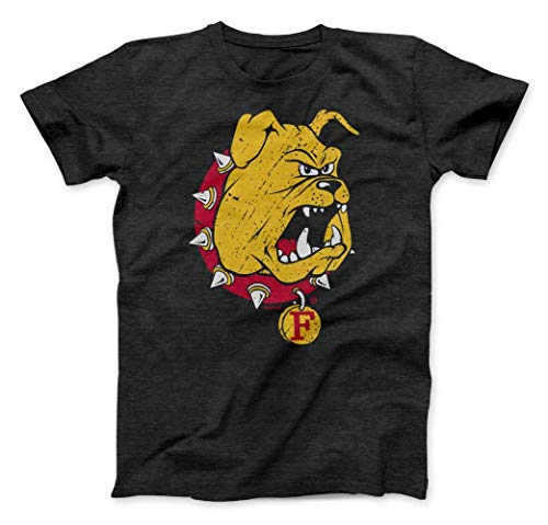 (Nudge Printing Ferris State University Bulldogs Charcoal T-Shirt from (Ferris State University, XL))