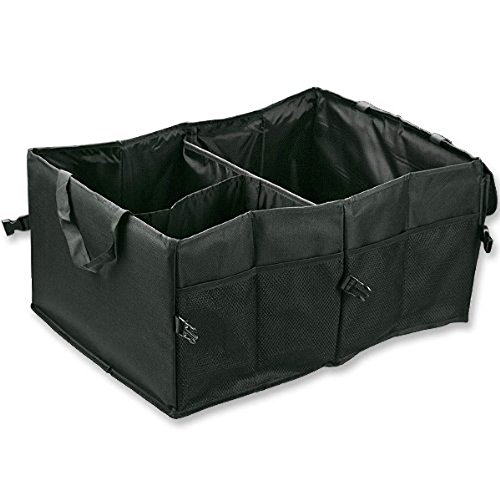 Astra Depot M25-025-1 Foldable Cargo Storage Box with Rope Handles, 60 x 40 x 26cm, Black   ()