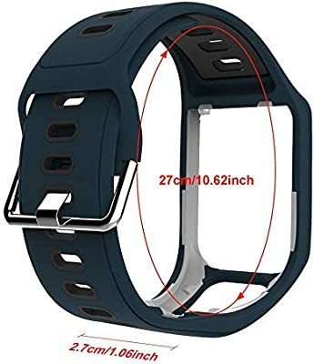 GoGlor Tomtom Correa para Tomtom Spark 3 Runner 3 Runner 2 Golfer Adventurer Cardio Music GPS Smartwatch, Multisport Correa Reloj Profesional ...