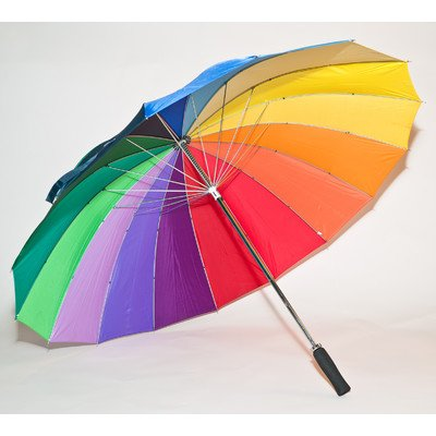 Elite Rain Umbrella Manual-Open Fiberglass Golf Umbrella - Rainbow Golf