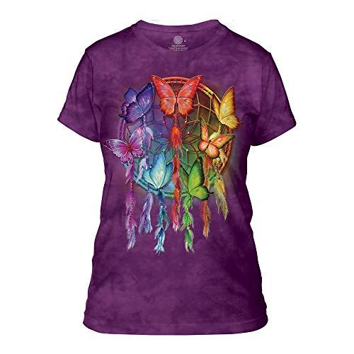 The Mountain Women's Rainbow Butterfly Dreamcatcher Apparel, Purple XL