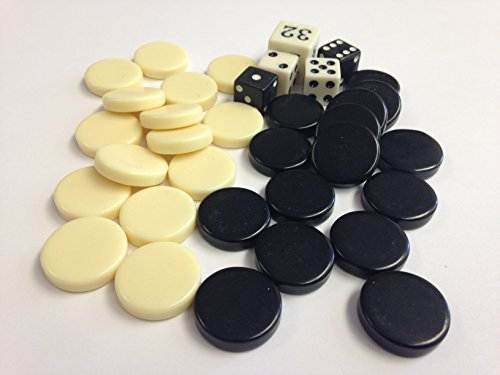 Backgammon Dice (Sondergut -- Replacement Stones for Sondergut Roll-Up Travel Backgammon)