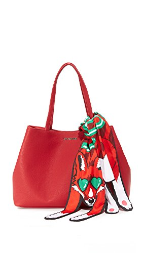 Love Moschino Borsa Grain Pu femmes, sac à main, rouge