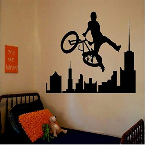 LSFHB Removable Amazing Sports Decals Sport Bike BMX Room Bedroom Decorating Ideas Stickers Walls Kids Boys Room 42X60Cm