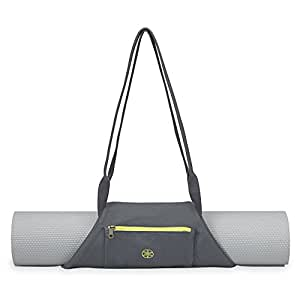 Gaiam On-The-Go Yoga Mat Carrier, Citron Storm