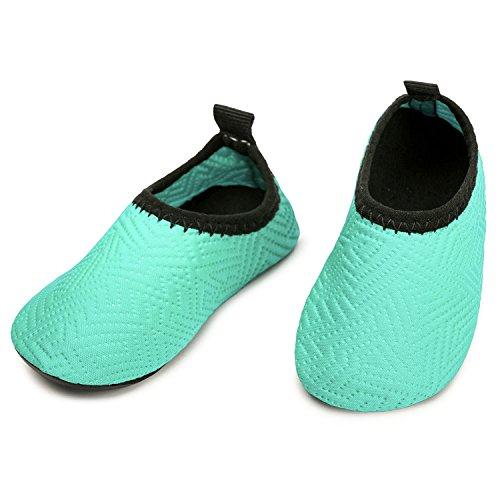 L-RUN Infant Boys Girls Water Swim Shoes Unisex Beach Pool Shoes Green 0-6 Month=EU15-16