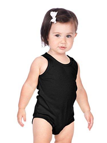 (Kavio! Unisex Infants Scoop Neck Tank Onesie Black 12M)