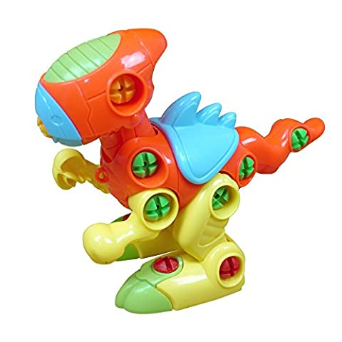 Sealive Popular Educational Toys Plastic Dinosaur Assemble Disassemble Funny Puzzle Toy Toddler Kids Birthday Gift Xmas (Dead Drum Player)