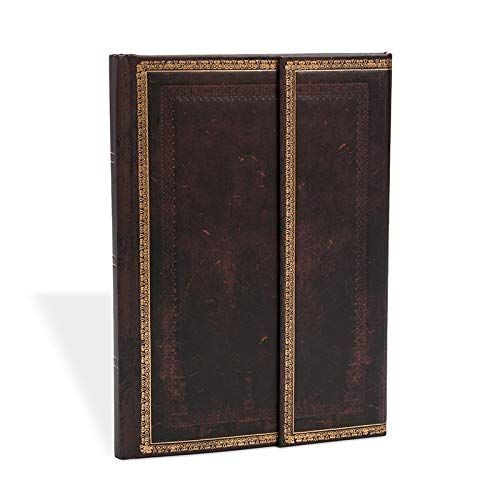 (Black Moroccan Midi Lined Journal (Old Leather))
