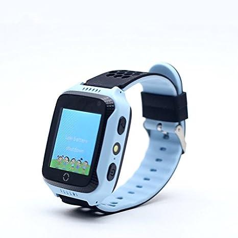 Impermeable Reloj Infantil Smartwatch Inteligente Pulsera de Para Niños Con llamada Toque HD Pantalla SOS GPS Despertador Compatible con Android IOS App ...