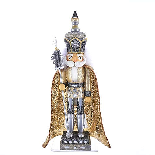 Kurt Adler 17.5-inch Hollywood Gold and Silver King Nutcracker