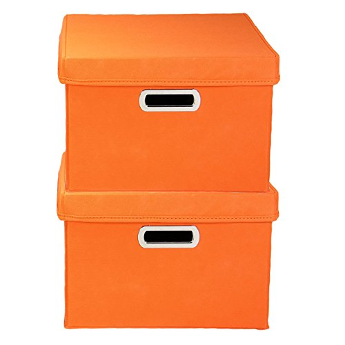 Household Essentials Fabric Storage Boxes With Lids And