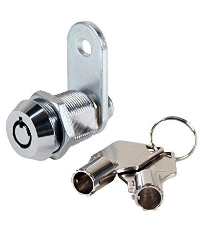 MEI-Cam lock-KA Vending Machine Lock 7/8'' with Tubular Keyway and Chrome Finish, Keyed Alike, #1452 by Vending-World (Image #1)