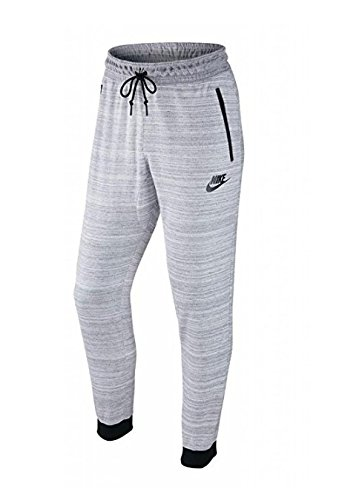 Nike Men's Sportswear Advance 15 Jogger, White/Heather/Black (XL)