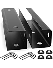"""Yecaye Under Desk Cable Management Cable Tray with Mounting Tape, 2 Pack Organizer Cable Tray for Cords Wires Power Strip Power Bricks, U Channel Cable Tray for Office, Home (15.7"""" Each, Black)"""